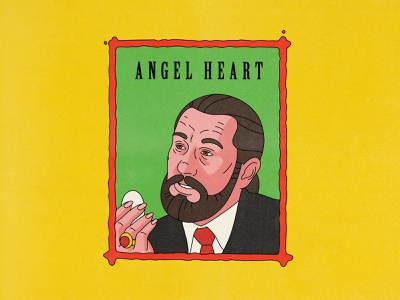 Angel Heart retro typography movies pop art design texture halftone editorial illustration editorial illustration