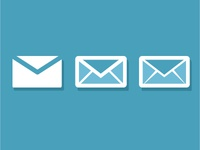 A Flat Set of Snail Mail Icons
