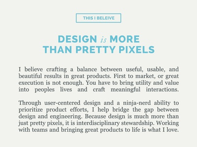 Design is More Than Pretty Pixels