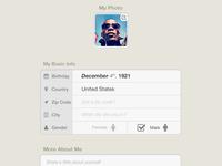 Edit Your Profile - iPad App