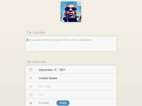 Edit Your Profile - iPad App (v2)