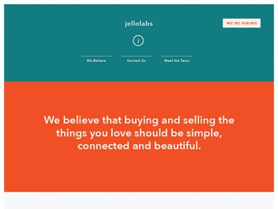 Startup's Homepage homepage landing page web color blocks typography simple clean colorful minimalist