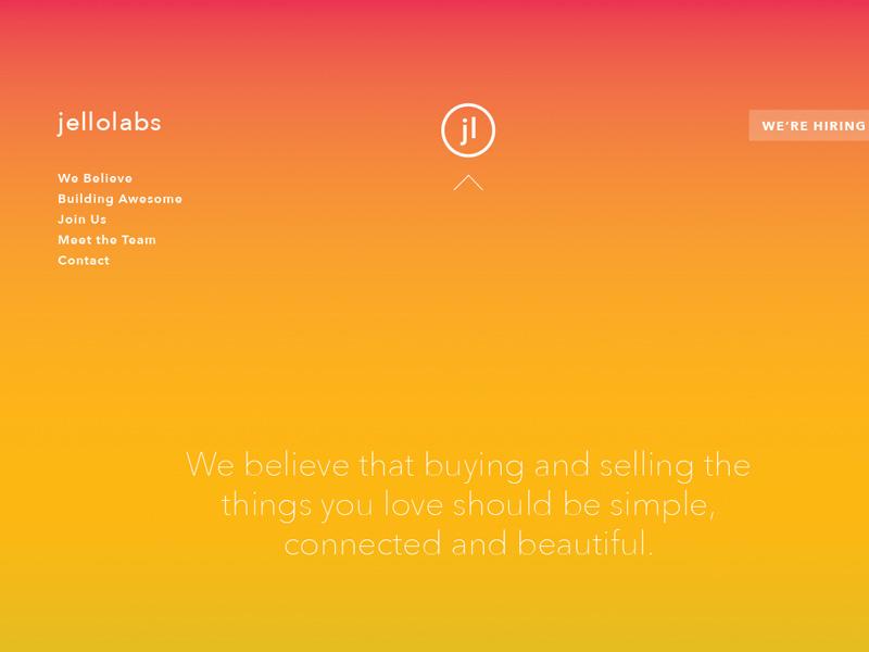 Startup's Homepage startup homepage gradient site clean simple