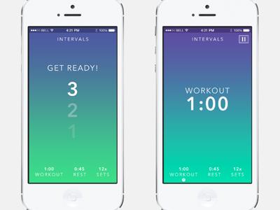 iOS7 Workout App In Progress
