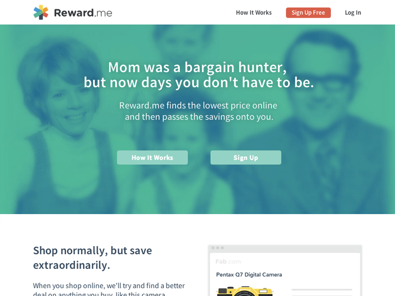 Reward me alpha newuser homepage
