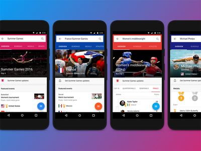 Rio 2016 inside Google Search  ui mobile desktop material olympics google search google