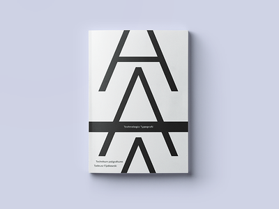 Technologia Typografii - Book Design polish minimal okladka typografii technologia typography cover book