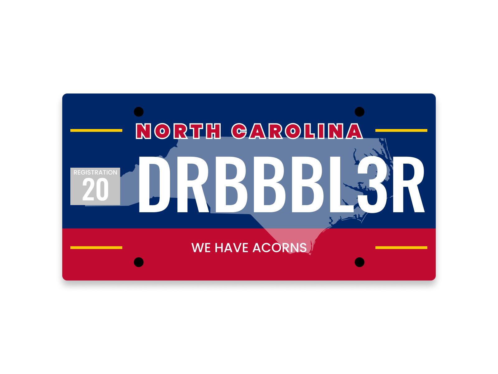 Dww wk07 license plate