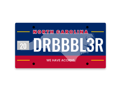 Dribbble Weekly Warmup | NC License Plate