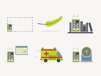 Arista Slice Illustrations lightweight updates instrument medical feather illustration science
