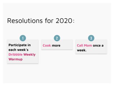Warmup: Resolutions 2020