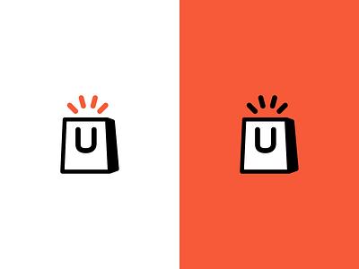 Buyapp Logo brand lineicon orange icon buy logo
