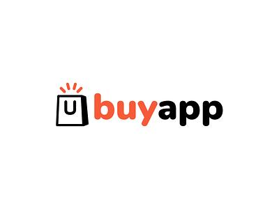 Buyapp Logo typogaphy logotype logo identity branding