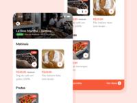 Byapp Store Screen ux orange phurshell design ui app mobile
