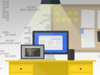 Phurshell Office Illustration