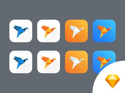 Awsome iOS Logo Concept logo iphone illustration icons development design application ios flat sketh resources free