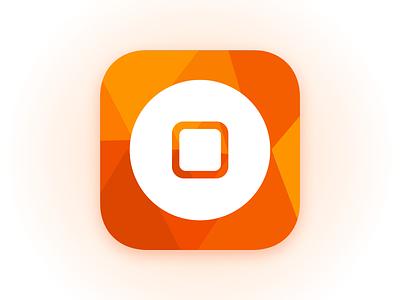 Logo for a Mobile Company logo ios icon mobile flat orange branding app