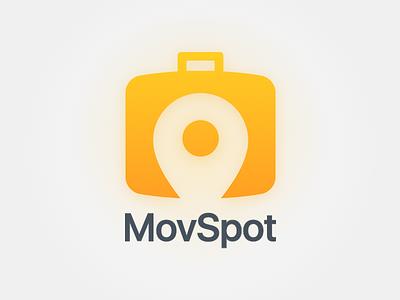 Movspot Logo visual identity movie branding movie travel illustration phurshell design logo design combination web application movie app icon brand style
