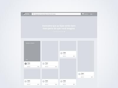 Wireframe for a Fashion Plataform wireframe web application visual identity ux ui phurshell design