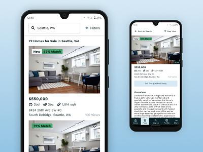 Home App UI home real estate app ui design