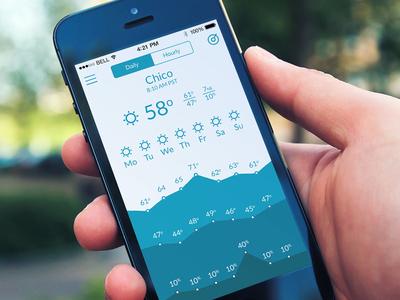 Weather Shades Handheld weather ios minimal app iphone blue ios 7 iphone 5c