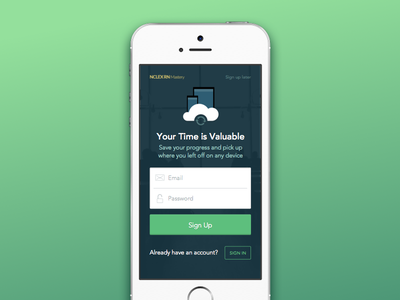 Sign Your Life Away ui ios mobile form design sketch sign in interface app user interface