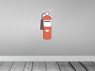 Fire Extinguisher Sticker - Sticker Mule Contest