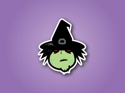 Witch Sticker Design
