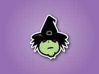 Witch Sticker Design