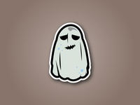 Halloween Scary Bed Sheet Sticker