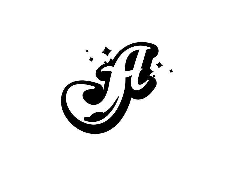 """The Letter """"A"""" pedicure manicure cursive type logo arts burton sparkle beauty nails a"""