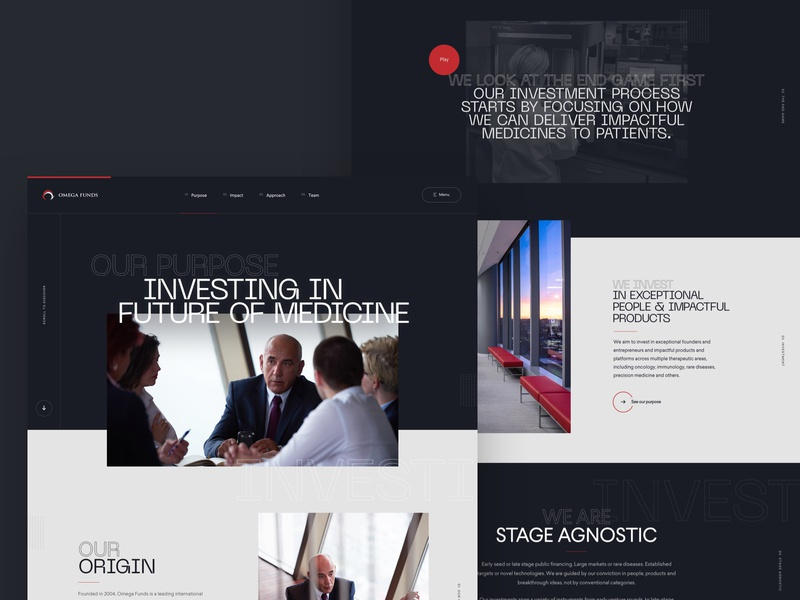 Investment Funds - About Page concept ui design website design creative  design website sketch app ux agency web design work in progress