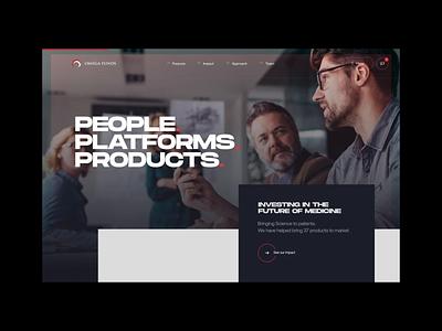 Hero load animation agency design ux animated ui design ui creative  design website web work in progress