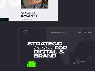 Portfolio Screens freelancer concept creative  design portfolio ui design ui web website work in progress design