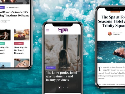 Spa Magazine (Mobile Concepts) website magazine blog agency web ux ui design design ui work in progress