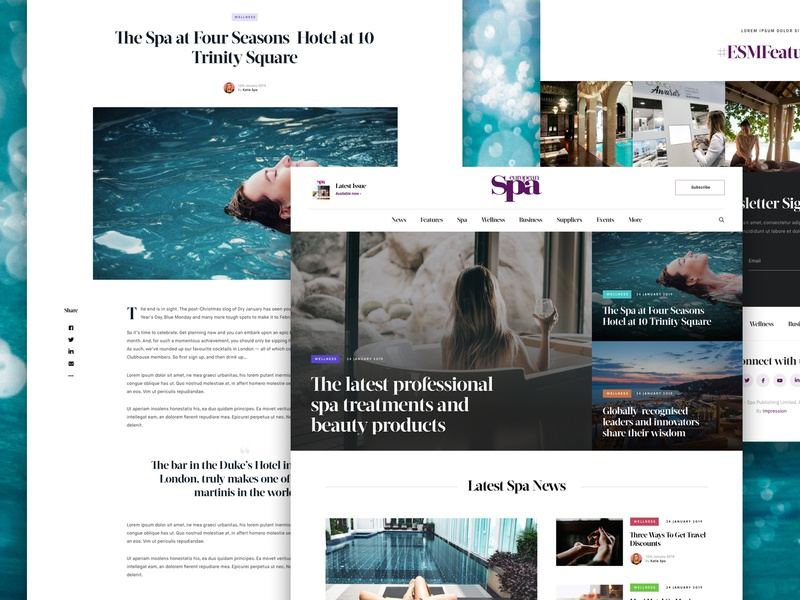Spa Magazine (Detail) website magazine blog agency web ux ui design ui design work in progress