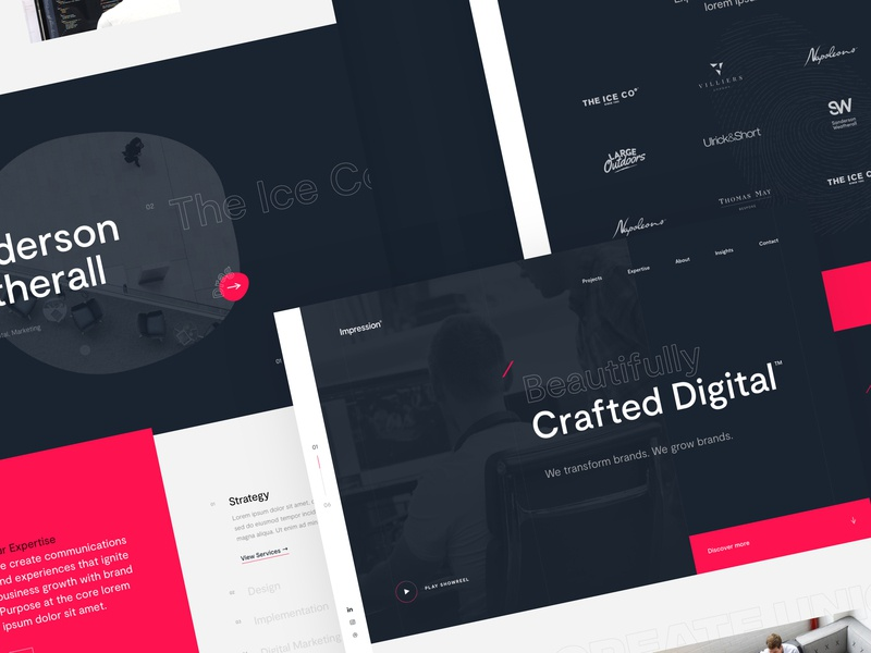 Agency Concept ux ui website typography branding design agency web ui design unused work in progress