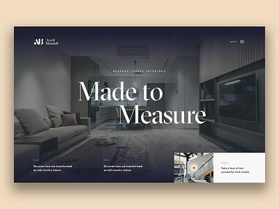 Interior Design — Homepage homepage website creative  design sketch app principle app animated ux web ui design ui agency design work in progress