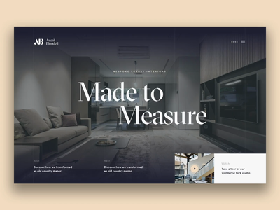 Interior Design — Homepage homepage website creative  design sketch app principle app animated ux web ui design ui agency design work in progress