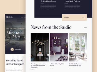 Interior Designer - Homepage
