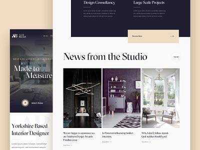 Interior Designer - Homepage design work in progress