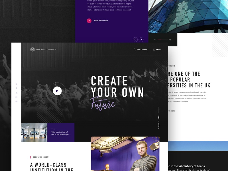 University Homepage Concept agency creative  design sketch app website ux ui design web design concept work in progress