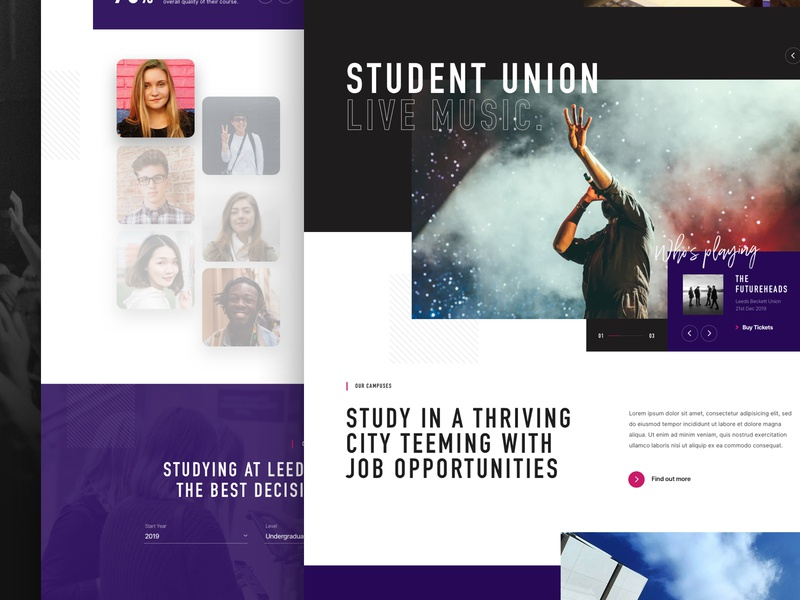 University Homepage Concept website creative  design sketch app ux agency web design ui ui design work in progress