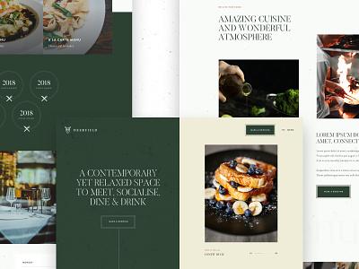 Restaurant Concept concept website creative  design restaurant sketch app design web ui ui design work in progress