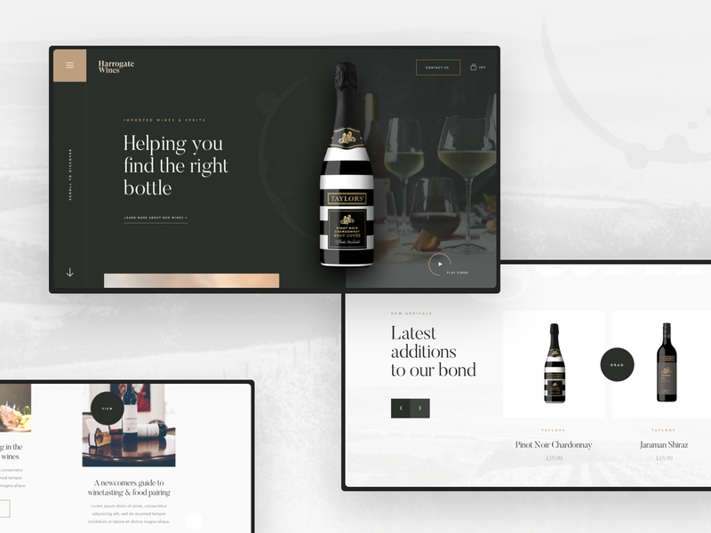 Wine Company Concept concept sketch app website ux agency web ui design ui design work in progress