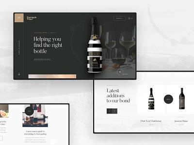 Wine Company Concept concept sketch app website ux agency web ui design ui design work in progress