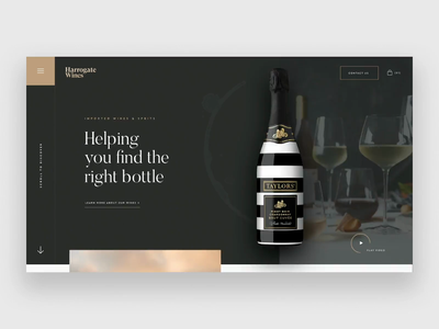Wine Company Homepage motion principleapp animated creative  design website ux agency web ui ui design design work in progress