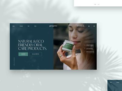 Ecommerce Homepage Hero creative  design sketch app website ux agency web ui design ui design work in progress