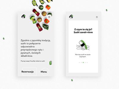 Youmiko Vegan Sushi Website website illustration page colours design ui mobile web vegan sushi www