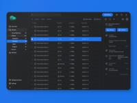 Backup management tool Dark Theme